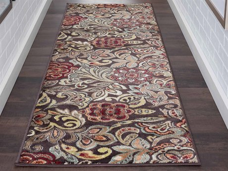 Tayse Rugs Deco Dilek Brown Runner Rug