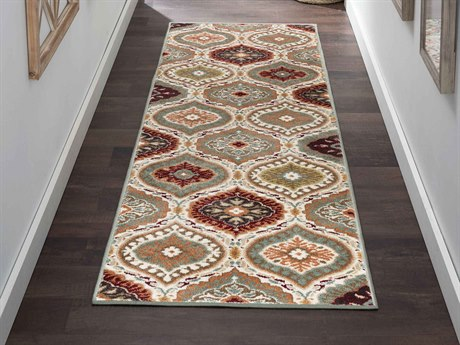 Tayse Rugs Deco Rylee Multi-Color Runner Rug