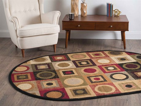 Tayse Rugs Elegance Peyton Multi-Color Oval Area Rug