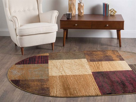 Tayse Rugs Elegance Augusta Multi-Color Oval Area Rug