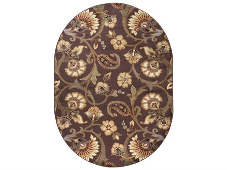 Tayse Rugs Elegance Brianna Brown Oval Area Rug