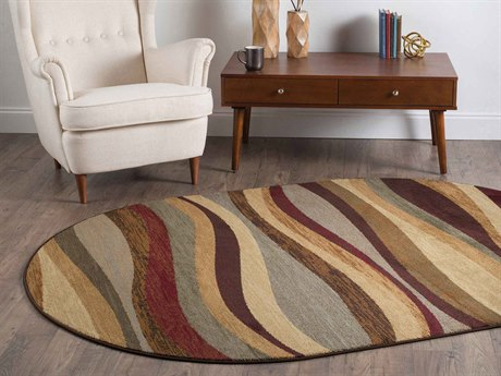 Tayse Rugs Elegance Norfolk Multi-Color Oval Area Rug