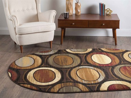 Tayse Rugs Elegance Martin Multi-Color Oval Area Rug