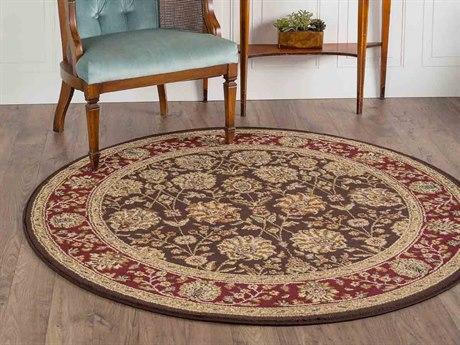 Tayse Rugs Elegance Marietta Brown Round Area Rug