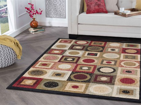 Tayse Rugs Hampton Ethan Black Rectangular Area Rug