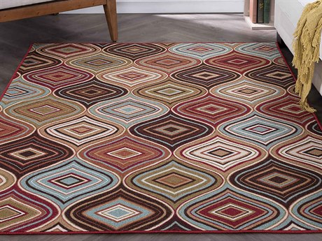 Tayse Rugs Majesty Cullen Multi-Color Rectangular Area Rug