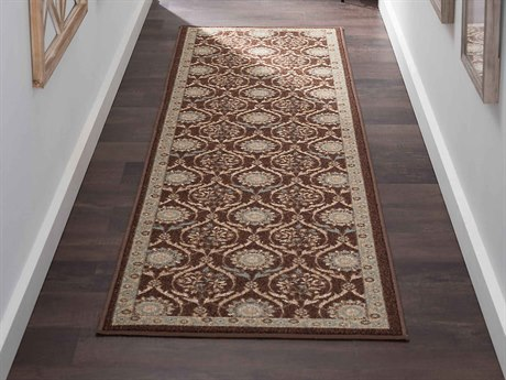 Tayse Rugs Majesty Leola Brown Runner Rug