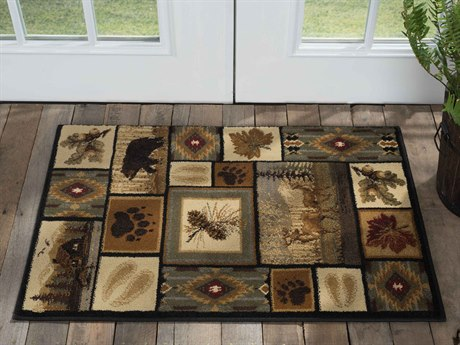 Tayse Rugs Nature Northern Wildlife Multi-Color 2' x 3' Rectangular Area Rug TANTR6660SCA