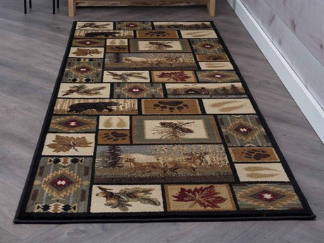Tayse Rugs Nature Northern Wildlife Multi-Color Runner Rug TANTR6660RUN