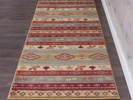 Tayse Rugs Nature Misty Elk Multi-Color 2'7'' x 7'3'' Runner Rug