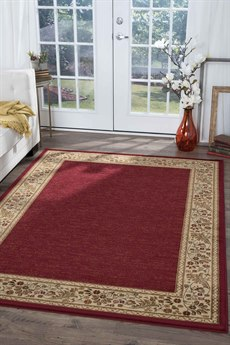 Tayse Rugs Sensation Harper Red Rectangular Area Rug