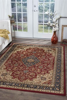 Tayse Rugs Sensation Kirsten Red Rectangular Area Rug TASNS4780REC