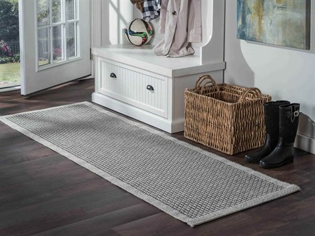 Tayse Rugs Serenity Largo Charcoal Runner Rug TASRN1018RUN