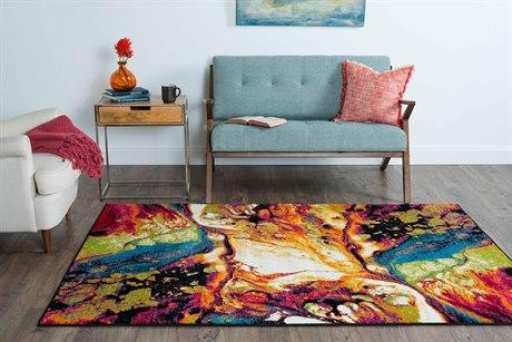 Tayse Rugs Symphony Soleil Multi-Color Rectangular Area Rug