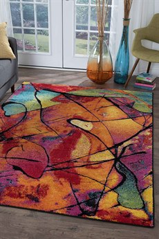 Tayse Rugs Symphony Lyric Multi-Color Rectangular Area Rug