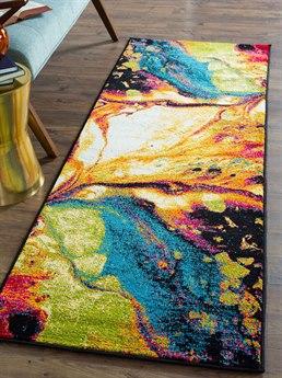Tayse Rugs Symphony Soleil Multi-Color 2'7'' x 7'3'' Runner Rug