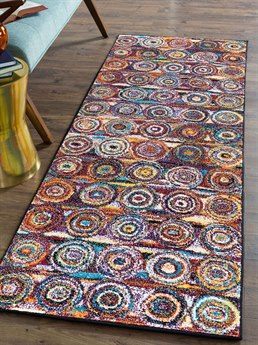 Tayse Rugs Symphony Kadin Multi-Color 2'7'' x 7'3'' Runner Rug