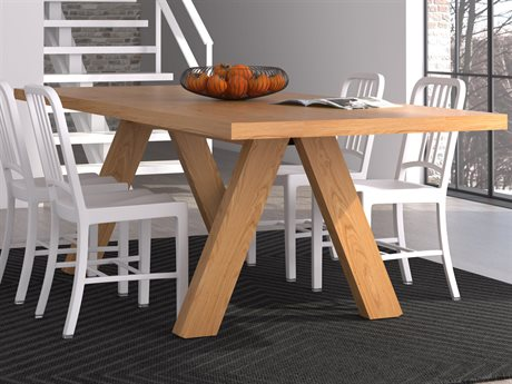 Temahome Apex Oak 79''W X 39''D Rectangular Dining Table