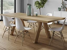Temahome Apex Oak 98''W X 39''D Rectangular Dining Table