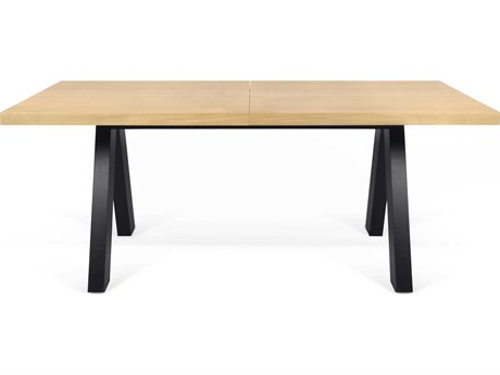 Temahome Apex Oak / Pure Black 98''W X 39''D Rectangular Dining Table