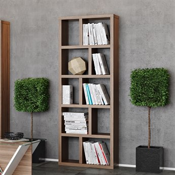 Temahome Berlin Walnut Bookcase TEM95003202