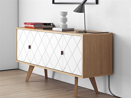 Temahome Brigitte Oak / Pure White Sideboard