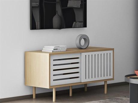 Temahome Dann Oak / Pure White / Oak Feet 53''W X 18''D Media Console