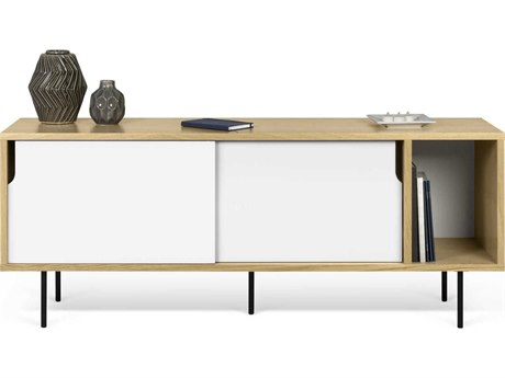 Temahome Dann Oak / Pure White / Black Feet Sideboard