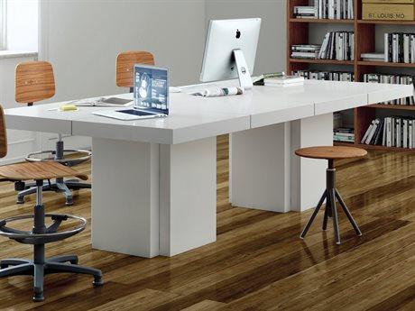 Temahome Dusk High Gloss White 102''W X 51''D Rectangular Dining Table