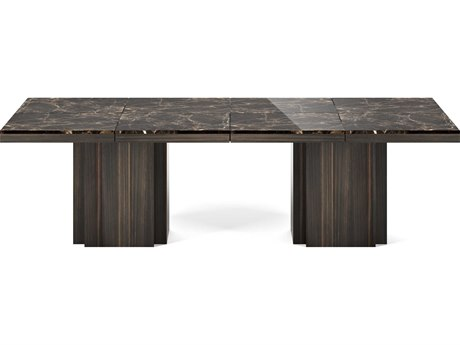 Temahome Dusk Brown / Smoked Eucalyptus 102''W X 51''D Rectangular Dining Table TEM9500628092