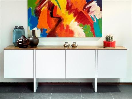 Temahome Edge Pure White / Walnut Sideboard