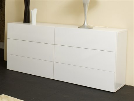Temahome Float Pure White Six-Drawer Double Dresser TEM9300756481