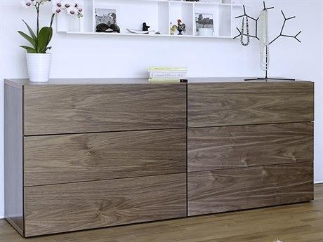 Temahome Float Walnut Six-Drawer Double Dresser TEM9303759079