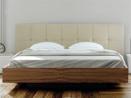 Temahome Float Beige / Walnut Queen Size Platform Bed TEM9500758249