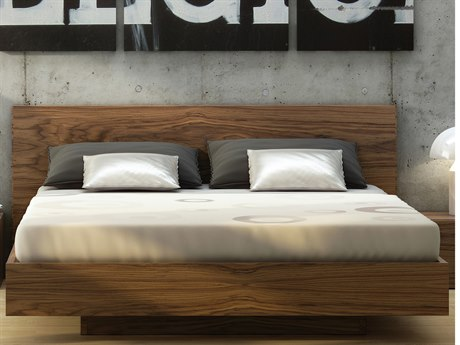 Temahome Float Walnut Queen Size Platform Bed TEM9500758522