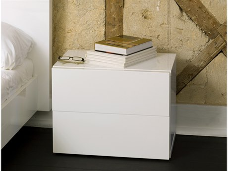 Temahome Float Pure White Two-Drawer Nightstand