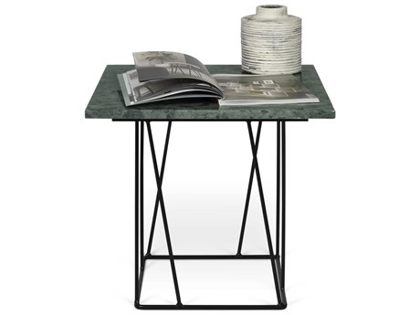 Temahome Helix Green / Black 20'' Wide Square End Table TEM950062733