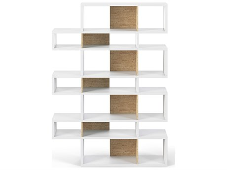 Temahome London Pure White / Cork Backs Bookcase