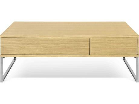 Temahome Lyra Oak / Chrome 45''W X 29''D Rectangular Coffee Table TEM9500627514