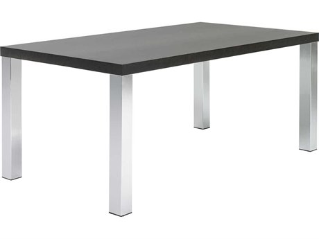 Temahome Multi Wenge / Chrome 63''W X 35''D Rectangular Dining Table