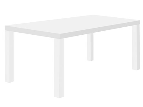 Temahome Multi Pure White 63''W X 35''D Rectangular Dining Table