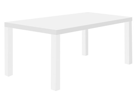 Temahome Multi Pure White 71''W X 35''D Rectangular Dining Table