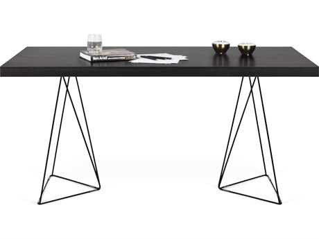 Temahome Multi Wenge / Black 63''W X 35''D Rectangular Dining Table
