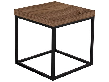 Temahome Prairie Walnut / Black 20'' Wide Square End Table