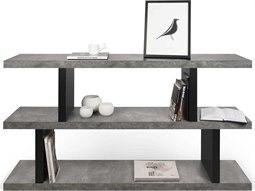 Temahome Step Concrete Look / Pure Black Bookcase