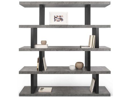 Temahome Step Concrete Look / Pure Black Bookcase TEM9500273278