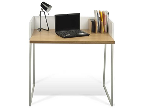Temahome Volga Oak / Pure White 35''W X 24''D Rectangular Computer Desk
