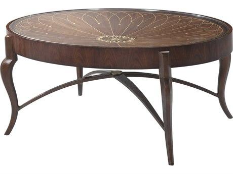 Theodore Alexander Iron / Morado Veneer 44'' Wide Oval Coffee Table