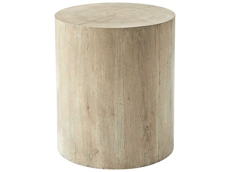 Theodore Alexander Reclaimed Oak Veneer 20'' Wide Round Drum Table