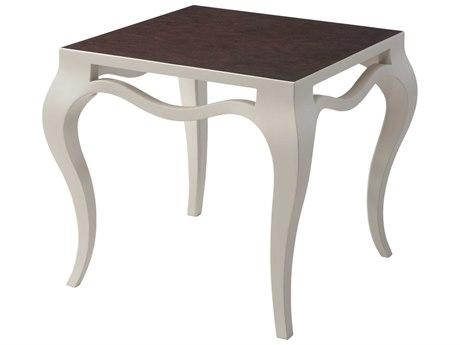 Theodore Alexander Beech / Walnut Burl Veneer 28'' Wide Square End Table
